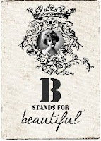 B for beautiful