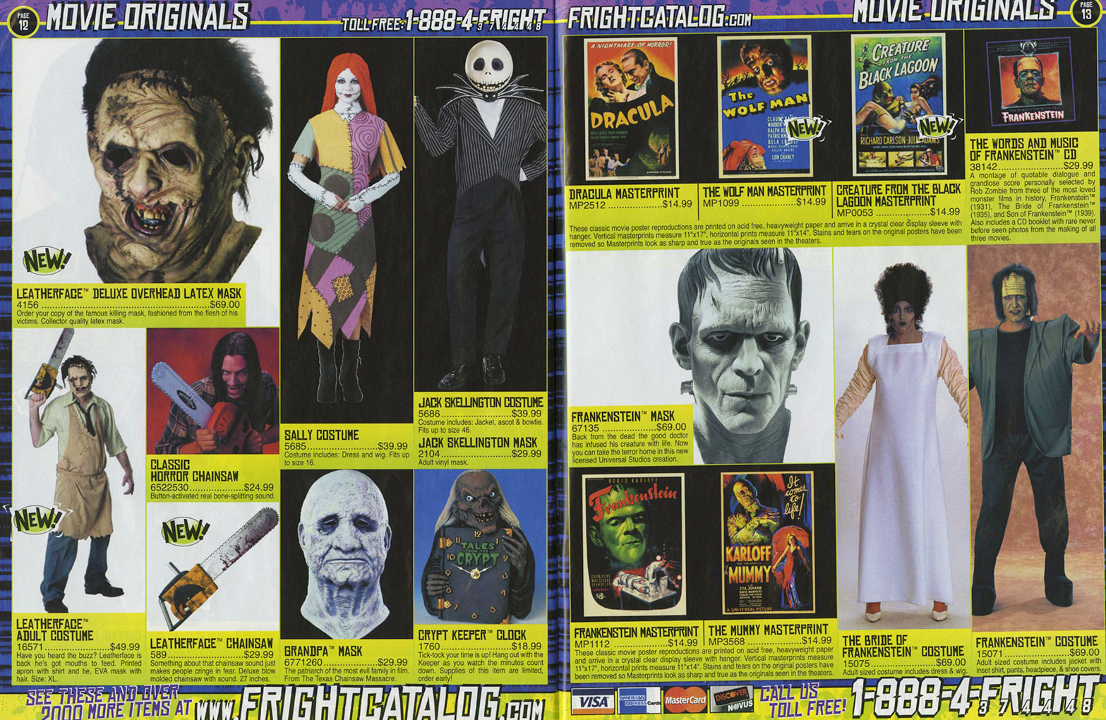 masks of the 2004 halloween outlet fright catalog - Halloween Catalog