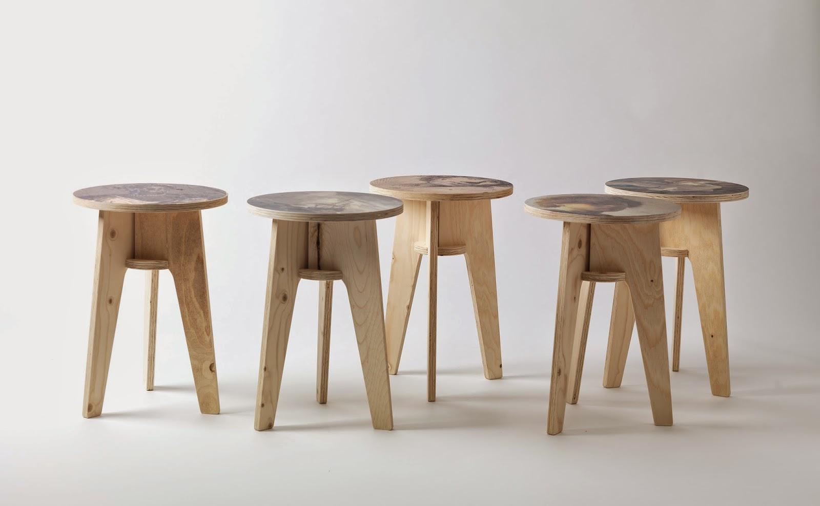 NLXL Lab, Plywood Print Stool, Piet Hein Eek