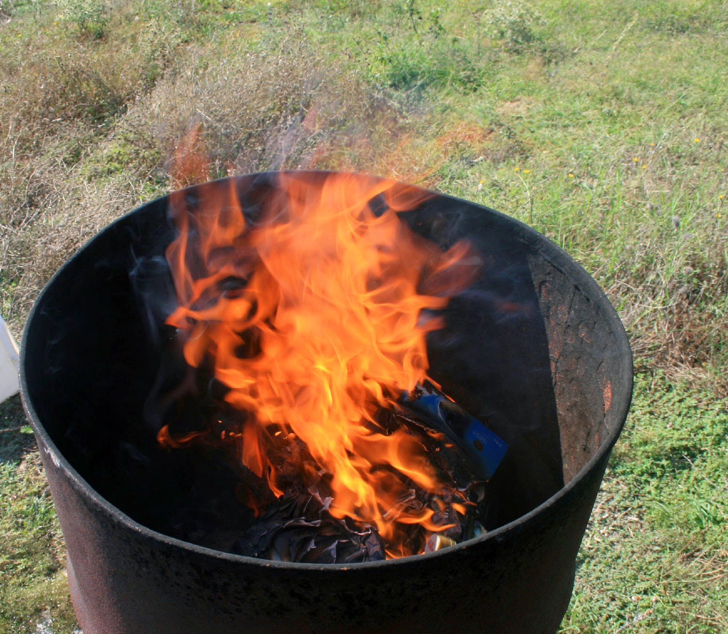 Burning all my rubbish