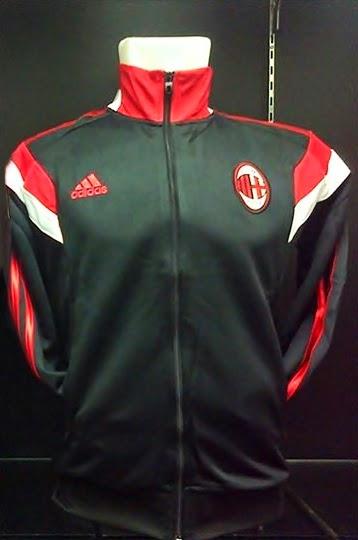 Jaket Bola Grade Ori Terbaru Milan Training Home Black Official 2014 - 2015