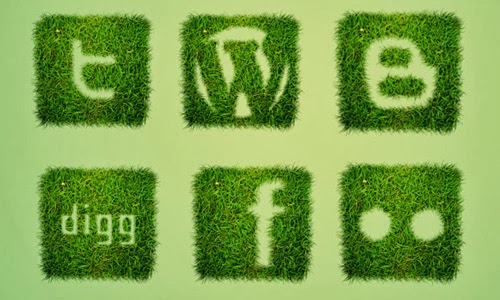 Free Grass Textured Social