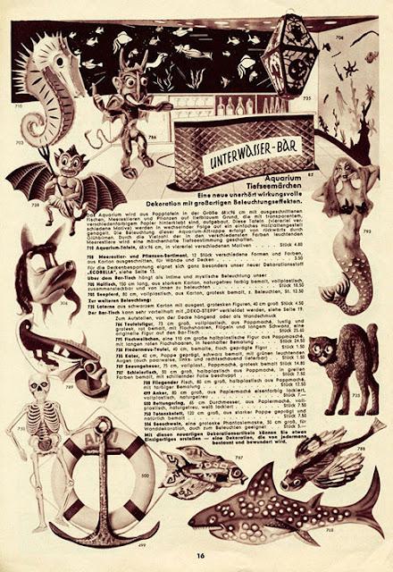 Page 16 of Karneval  katalog from 1955 - Einzinger & Co. Munchen - Vintage Halloween items, devil, lantern, skeleton, black cat