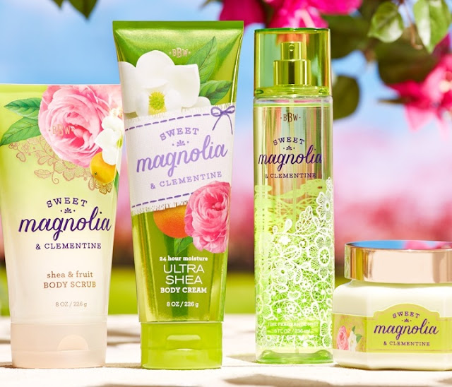 Charming Sweet South Scents, Bath & Body Works, Georgia Peach & Sweet Tea, Sheer Cotton & Lemonade, Sweet Magnolia & Clementine, Mint Julep, scented candle, fragrances hand soaps