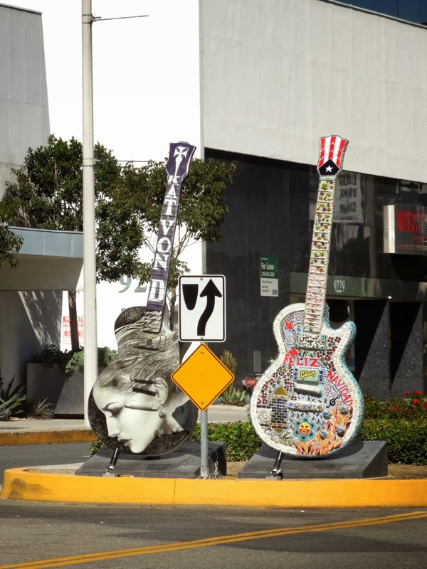 GuitarTown sculptures 2013 Sunset Strip