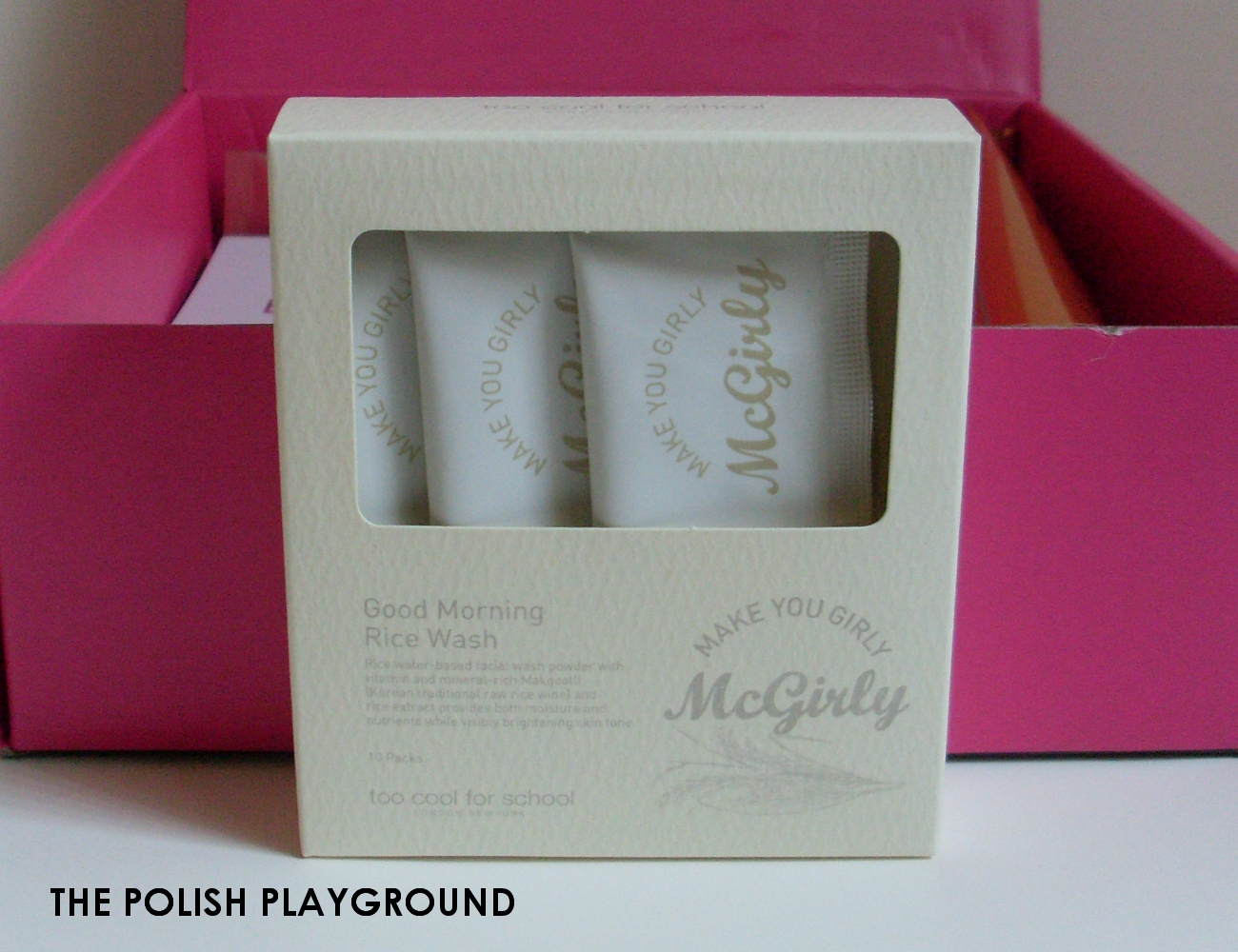 Memebox Luckybox #11 Unboxing - Too Cool For School Mcgirly Good Morning Rice Wash Set