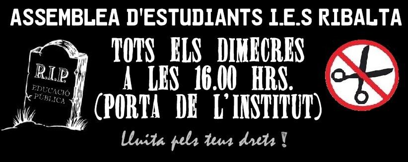 Assemblea d'estudiants I.E.S. Ribalta