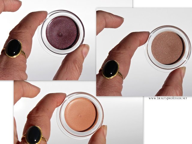 cle de peau cream color eyeshadow swatches