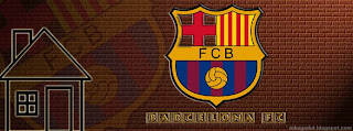 Barcelona FC Facebook Cover Brown Brick