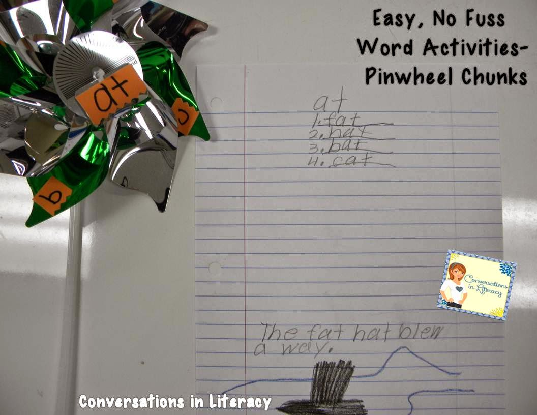 pinwheel chunks, easy no fuss activities