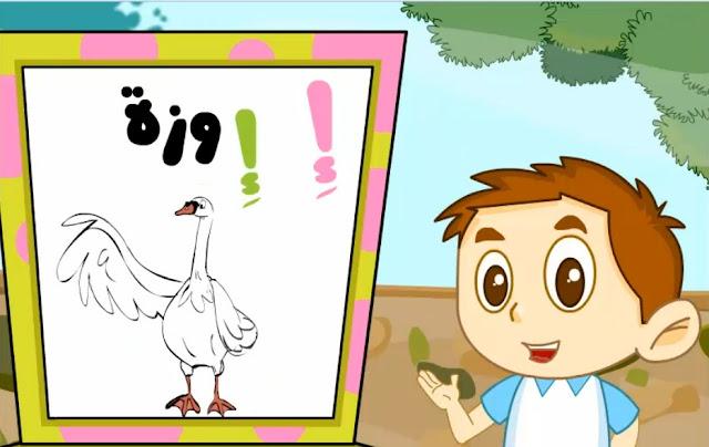 أشكال حرف الألف  - إ - في اللغة العربية