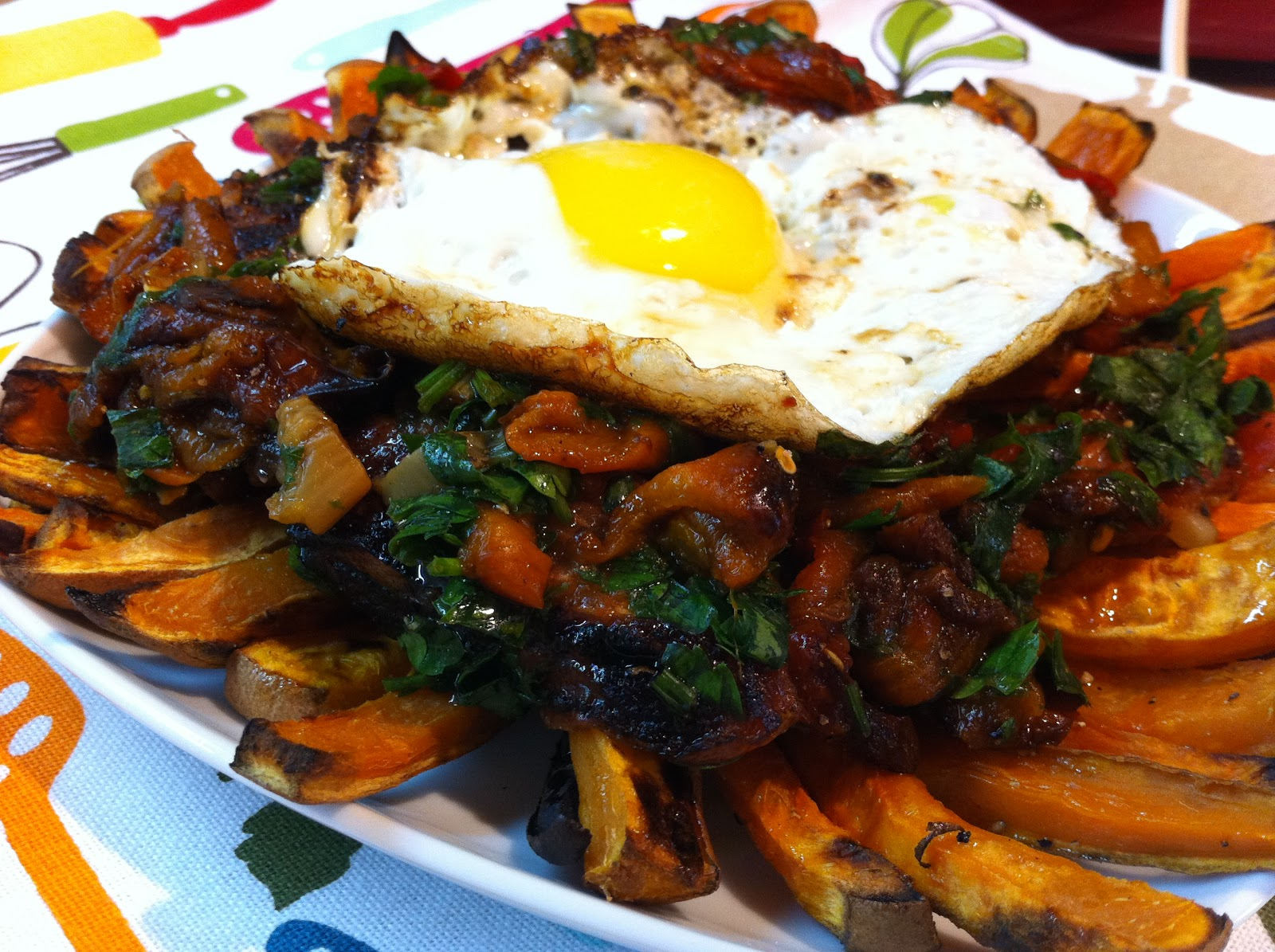 ... Simple Recipes: Baked Sweet Potato & Roasted Peppers Inspired Poutine
