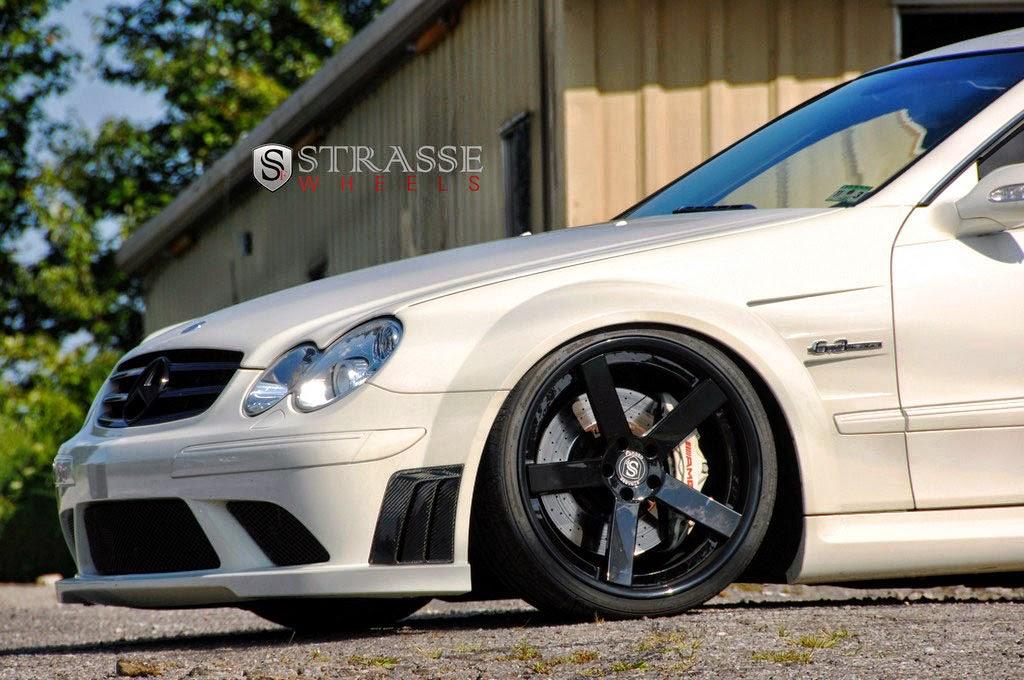 Mercedes benz clk63 amg black series on strasse wheels for Mercedes benz black wheels