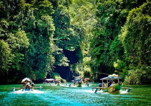 Green Canyon Spectacular Attraction in Pangandaran West Java