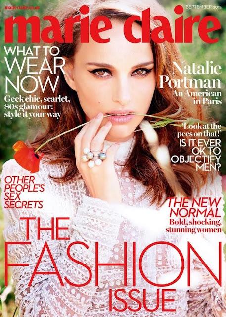 Actress @ Natalie Portman by Ellen von Unwerth for Marie Claire UK, September 2015