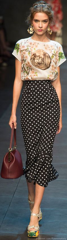 polka dot fashion week