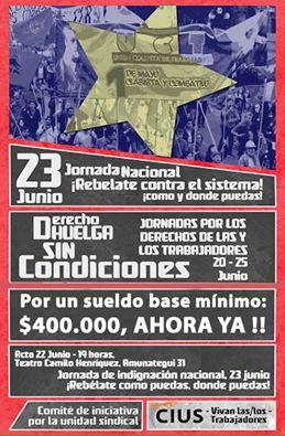 JORNADA NACIONAL, REVELATE CONTRA EL SISTEMA