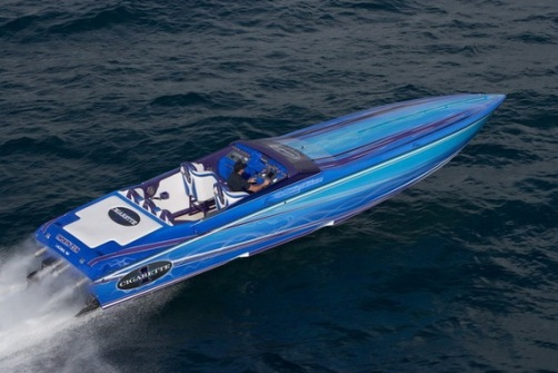 Blue Cigarette Boat