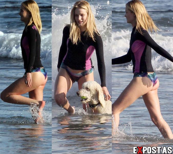 Rosie Huntington-Whiteley: Bikini candids em praia de Malibu - 02 de Março de 2013