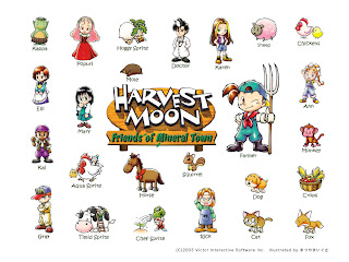 main Harvest Moon : Back to Nature menggunakan psx atau PS emulator