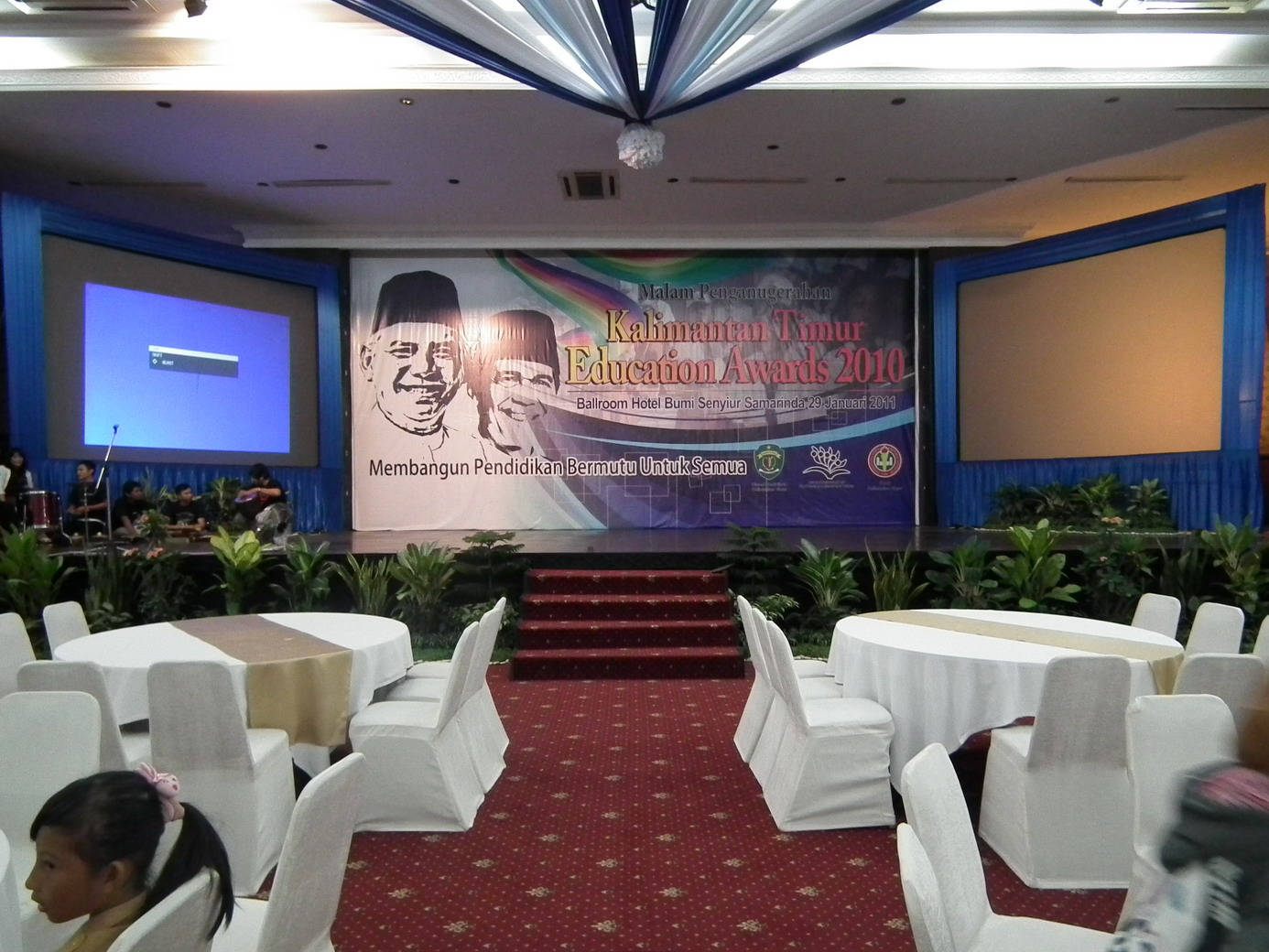 Aida decoration exhibition dekorasi education awards di for Dekorasi birthday di hotel