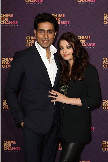 Bollywood Sweet Couple Aishwarya & Abhishek at Chime For Change concert