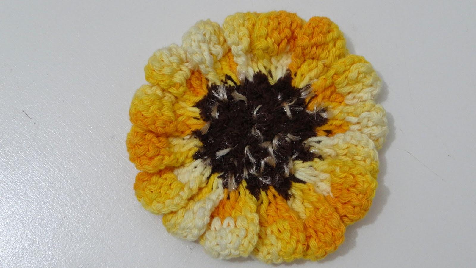 ateli do barbante passo a passo flor em croch   mini