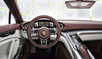 The Detail of Porsche Panamera Sport Turacismo interior