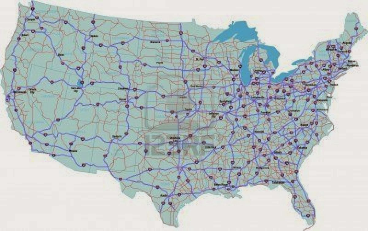 htm us map us highways