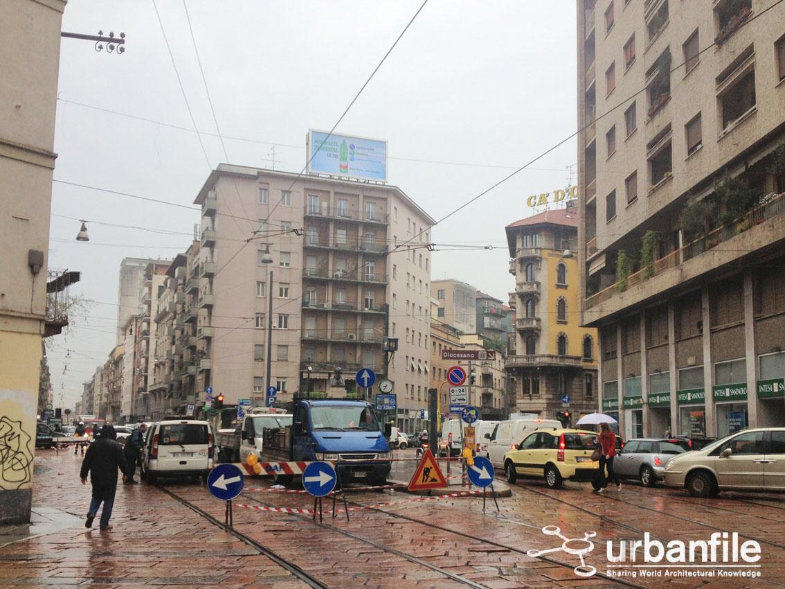 Urbanfile milano linee tram 2 e 14 deviazione di for Corso di porta genova milano