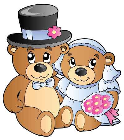 Married teddy bears