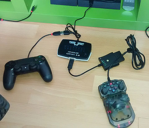 One Handed Controller on Playstation 4 via adapters.