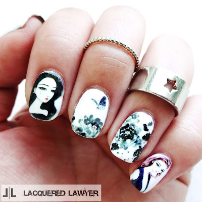 Girl Decal Nail Art