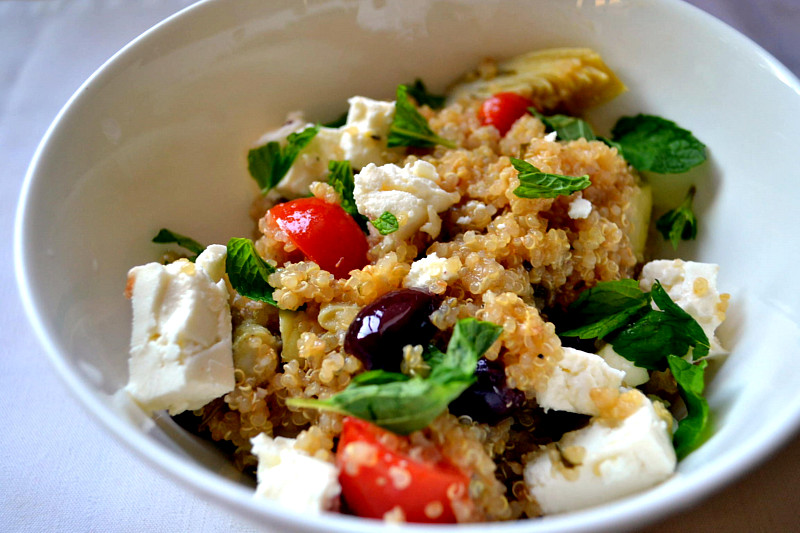 Greek Infused Quinoa Salad | The Little Ferraro Kitchen