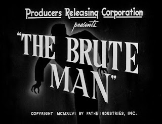 Creditos iniciales de The Brute Man, 1946