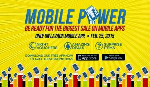 Lazada Mobile Power Sale Happening Tomorrow