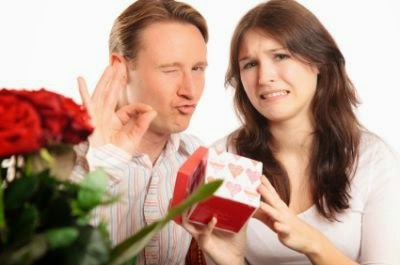 woman disappointed by her present