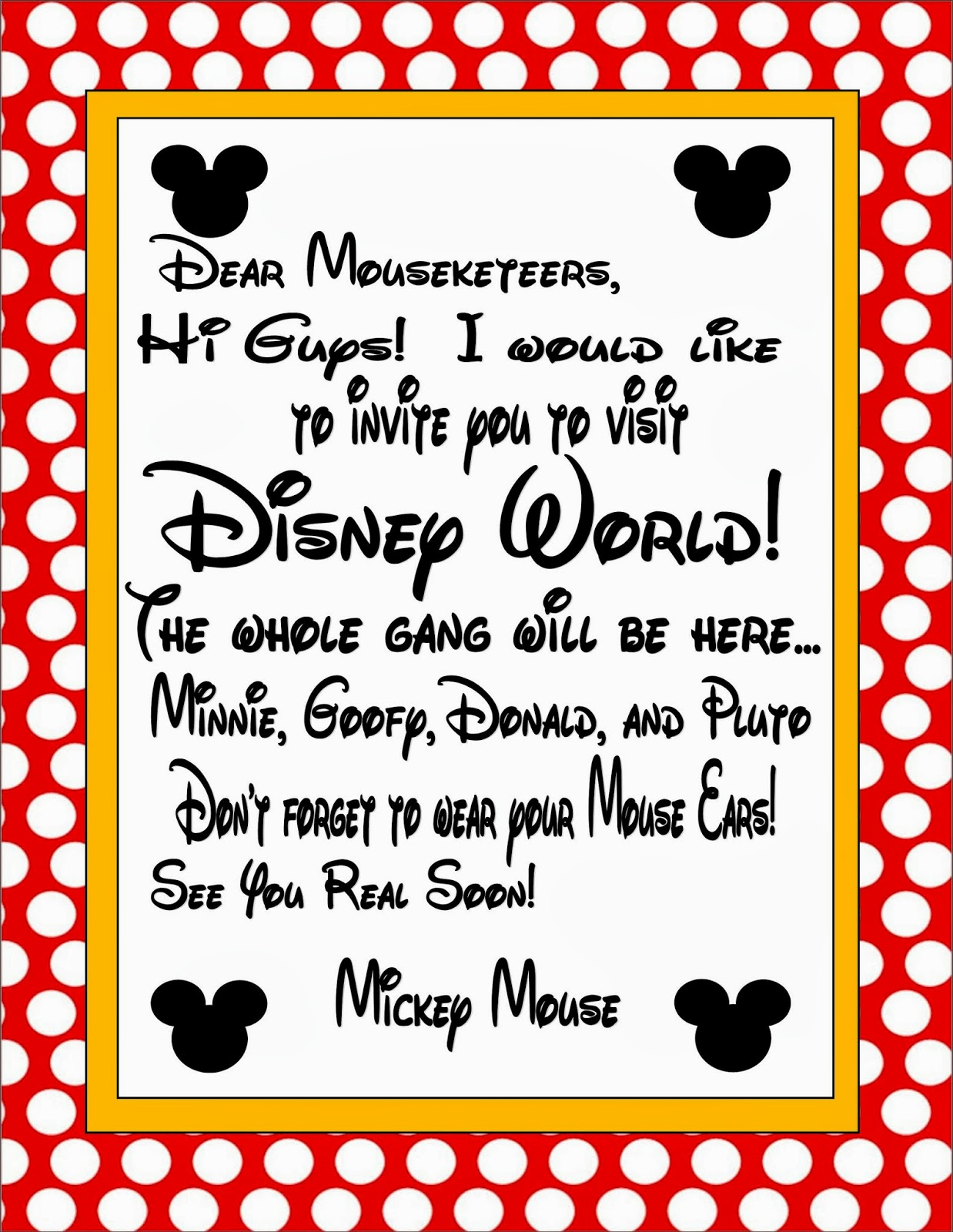 Two Magical Moms: Invitation to Disney World