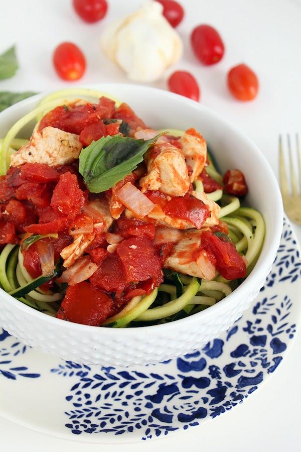 Pollo, tomate y albahaca para bajar de peso