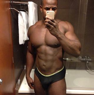 Nude black men hung