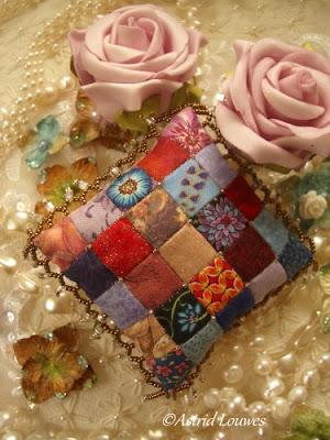 Kussentje van patchwork