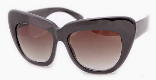 BLACK CAT EYE CHEAP VINTAGE STYLE SUNGLASSES