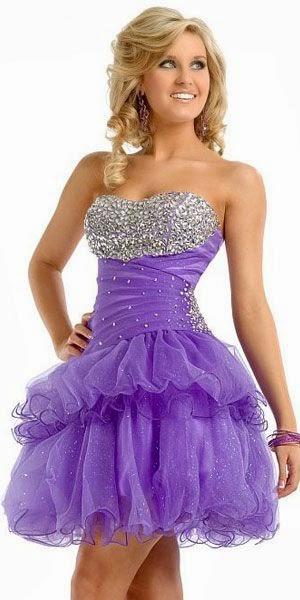 Modelos de Vestidos Cortos de color Morado