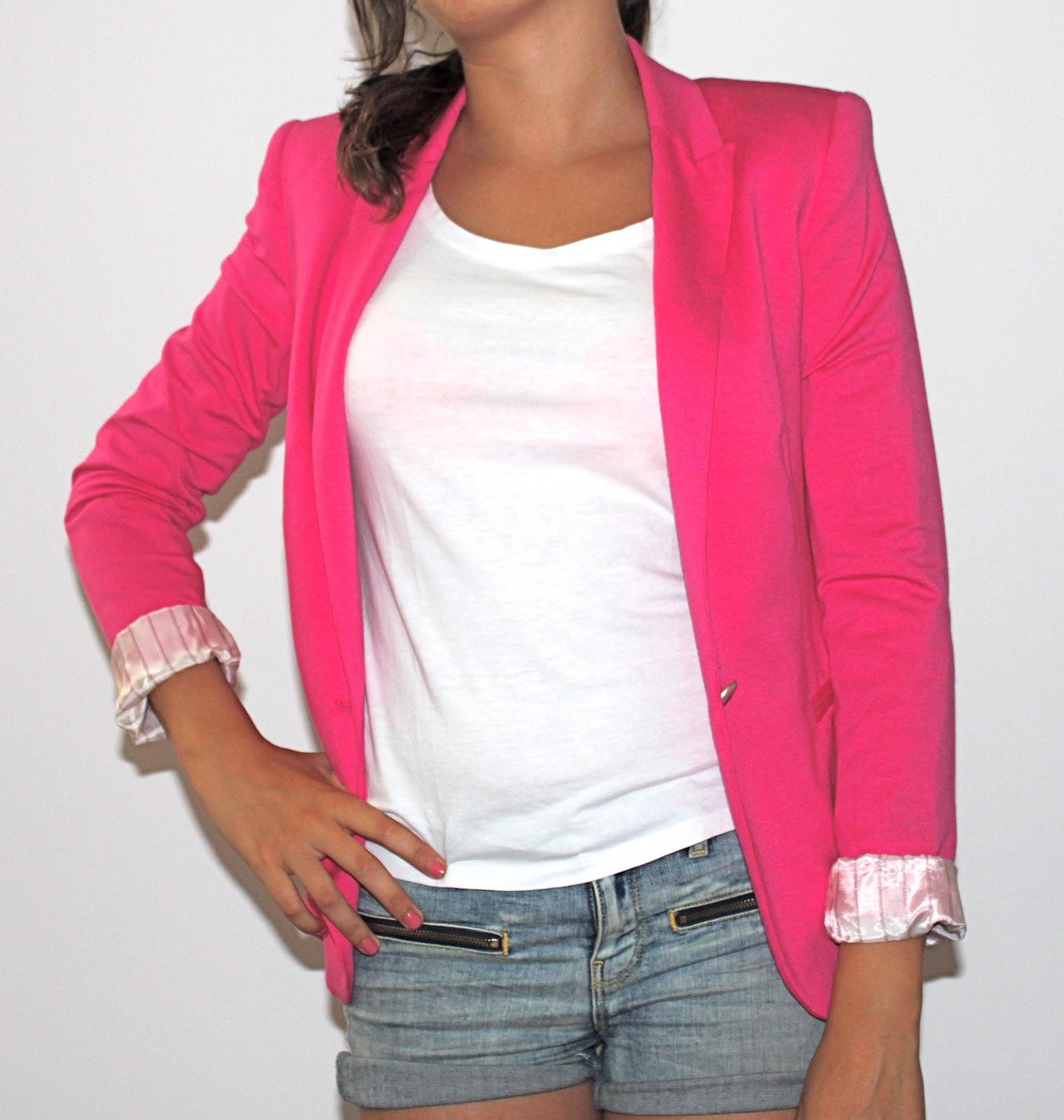 mon vide dressing veste tailleur blazer rose flashy zara. Black Bedroom Furniture Sets. Home Design Ideas