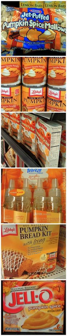 Jet Puffed Mallow Libbys Pumpkin Jello Pumpkin Spice Febreze