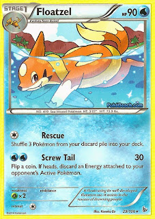 Floatzel Flashfire Pokemon Card
