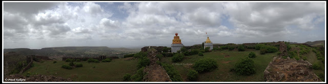 180 degree Panorama photo of Malhargad fort