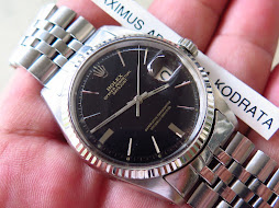 ROLEX OYSTER PERPETUAL DATE JUST BLACK DIAL - ROLEX 1601 BLACK DIAL