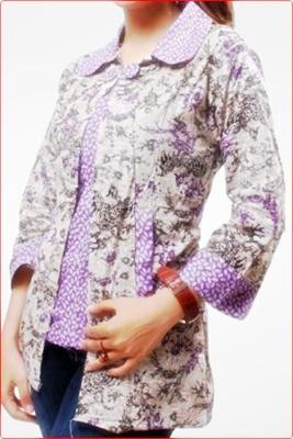 Gambar model baju batik modern terbaru