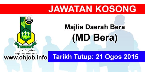 Jawatan Kerja Kosong Majlis Daerah Bera (MDBera) logo www.ohjob.info ogos 2015